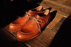 手作り靴教室・靴工房 ライトアングルステッチのUチップ・ダービー
