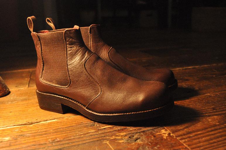 手作り靴教室・靴工房(東京)サイドゴアブーツ