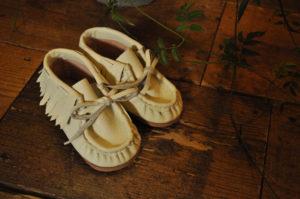 手作り靴教室・靴工房(東京)ベビーシューズ・インディアンモカシン