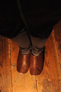 手作り靴教室・靴工房(東京)基礎練習バブーシュ
