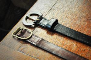 手作り靴教室・靴工房(東京)ヌメ革ベルト