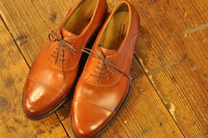 靴 ストレートチップ