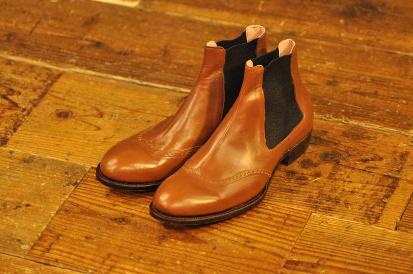手作り靴教室・靴工房 サイドゴアブーツ ハンドソーンウェルテッド
