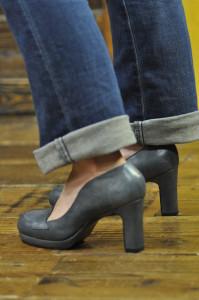 靴 ハイヒールローファー