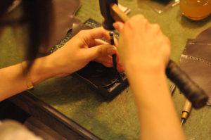 手作り靴教室・靴工房 6センチヒール 外羽根・セミブローグダービー