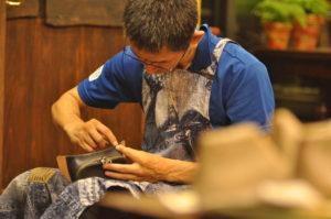 手作り靴教室・靴工房 レザーサイドポシェット