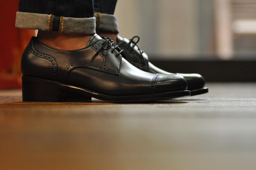 手作り靴教室・靴工房 セミブローグ・ダービー ハンドソーンウェルテッド
