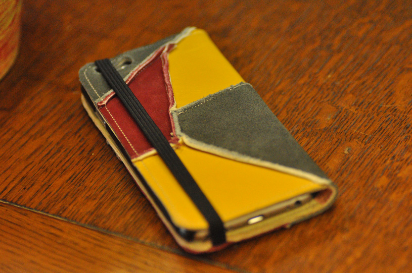 手作り靴教室・靴工房 革の携帯ケース