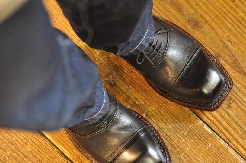 手作り靴教室・靴工房 内羽根ストレートチップ ノルベジェーゼ製法